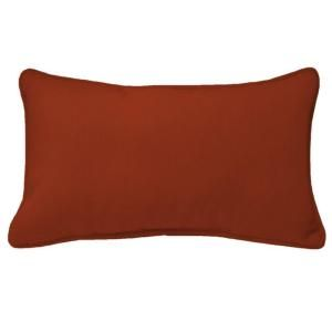 Hampton Bay Chili Red Outdoor Lumbar Pillow WC09121B 9D4