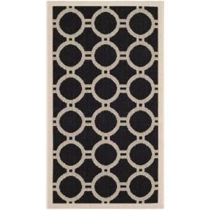 Safavieh Courtyard Black/Beige 2 ft. x 3.6 ft. Area Rug CY6924 266 2