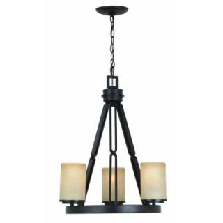 Hampton Bay Alta Loma 3 Light Dark Ridge Bronze Chandelier 27157