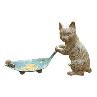 SPI Cat and Leaf Bird Feeder 33087