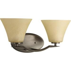Progress Lighting Bravo Collection Antique Bronze 2 light Vanity Fixture P2005 20