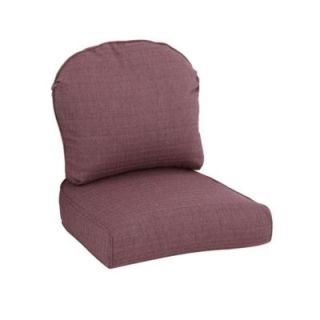 Hampton Bay Walnut Creek Purple Replacement Outdoor Lounge Chair Cushion (2 Pack) FRS62265 CP