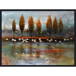 Yosemite Home Decor 32 in. x 48 in. Autumn Reflection Hand Painted Contemporary Artwork DCA290SA