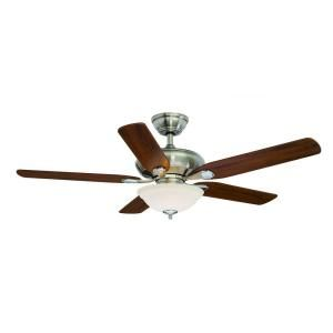 Hampton Bay Flowe 52 in. Brushed Nickel Ceiling Fan 99913