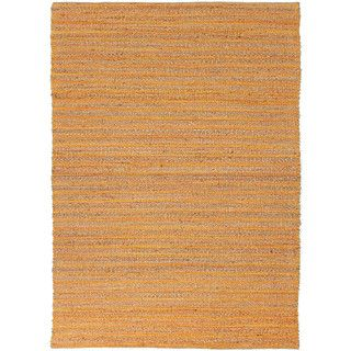 Handmade Naturals Solid Pattern Red/ Orange Rug (5 X 8)