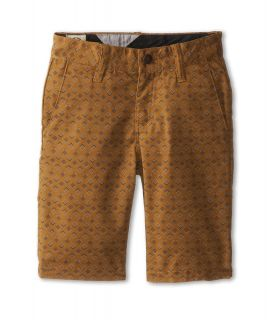 Volcom Kids Frickin Printed Stretch Short Boys Shorts (Brown)