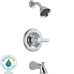 Delta Lahara Tub and Shower Faucet Trim Kit Only in Chrome (Valve not included) T14438