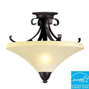 Aspects Multi Family Solutions Swain. 2 Light Oil Rubbed Bronze Semi Flush Mount SWF213SCT