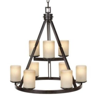 Hampton Bay Alta Loma 9 Light Dark Ridge Bronze Chandelier 27056