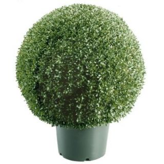 National Tree Company 20 in. Mini Boxwood Ball Shaped Artificial Topiary Tree in 9 in. Round Green Growers Pot LBXM4 700 20