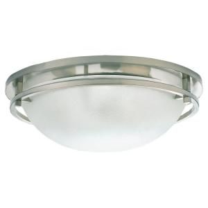 Sea Gull Lighting Eternity 3 Light Brushed Nickel Flush Mount Fixture 75115 962