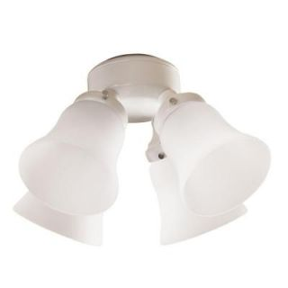 Hunter 4 Light White Ceiling Fan Light Kit 28349