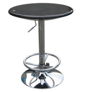 Boraam Luna Adjustable Pub Table in Black 99131
