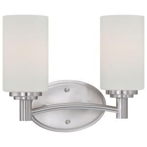 Thomas Lighting Pittman 2 Light Brushed Nickel Wall Vanity 190022217