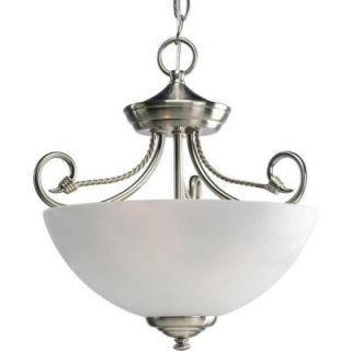 Progress Lighting Pavilion Collection Brushed Nickel 2 light Semi flushmount P3738 09
