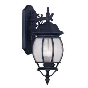 Filament Design Providence Wall Mount 3 Light Outdoor Black Incandescent Lantern CLI MEN7903 04