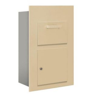 Salsbury Industries 3600 Series Collection Unit Sandstone USPS Front Loading for 5 Door High 4B Plus Mailbox Units 3600C5 SFU
