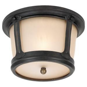Sea Gull Lighting Cape May 1 Light Outdoor Burled Iron Ceiling Fixture 78240 780