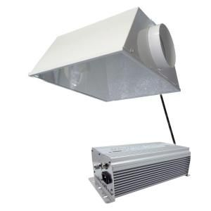 ViaVolt 400 Watt HPS/MH White Grow Light System with Timer/Remote Ballast and Air Cooled Reflector V400ECSS6