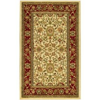 Safavieh Lyndhurst Ivory/Red 3.25 ft. x 5.3 ft. Area Rug LNH212K 3