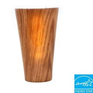 Its Exciting Lighting Vivid Series Wall Mounted Indoor/Outdoor Cherrywood Style Battery Operated 5 LED Wall Sconce 002617G