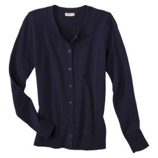 Merona Womens Ultimate Long Sleeve Crew Neck Cardigan   Xavier Navy   XS
