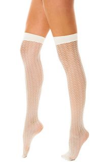 Foot Traffic Sock Zurich Knee High Trouser in Ivory