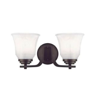 Westinghouse Wensley 2 Light Oil Rubbed Bronze Wall Fixture 6220500