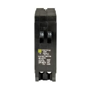 Square D by Schneider Electric Homeline 2 15 Amp Single Pole Tandem Circuit Breaker HOMT1515CP