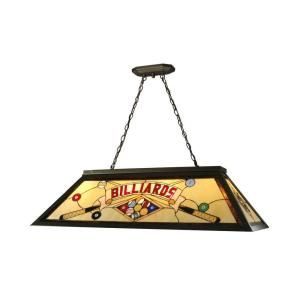 Dale Tiffany 4 Light Billiard Pool Table Hanging Antique Bronze Fixture FTH10021