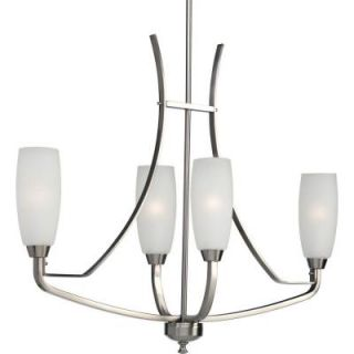 Progress Lighting Wisten Collection 4 Light Brushed Nickel Chandelier P4435 09