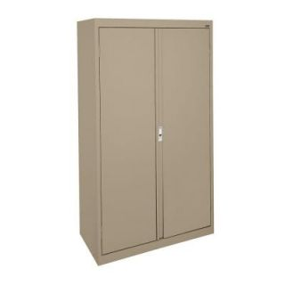 Sandusky System Series 30 in. W x 64 in. H x 18 in. D Double Door Storage Cabinet with Adjustable Shelves in Tropic Sand HA3F301864 04