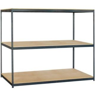 Salsbury Industries 9700 Series 96 in. W x 84 in. H x 36 in. D Heavy Duty Steel Frame and Particleboard Solid Shelving 9783