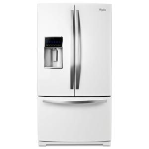 Whirlpool Gold 28.6 cu. ft. French Door Refrigerator in White Ice WRF989SDAH