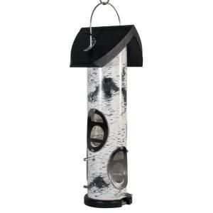 Woodlink Heavy Duty Birch Log Mixed Seed Tube Bird Feeder LOG2M