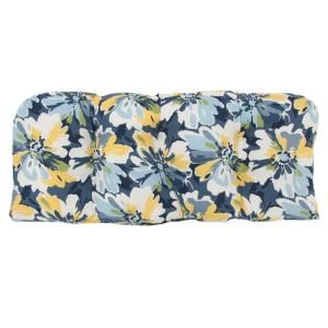 Hampton Bay Splash Floral Tufted Outdoor Bench Cushion 7426 01002200