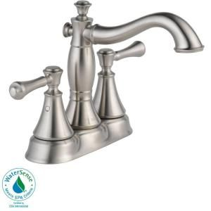 Delta Cassidy 4 in. 2 Handle High Arc Bathroom Faucet in Stainless 2597LF SSMPU