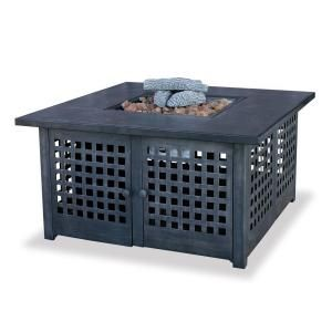 UniFlame Slate Tile Propane Gas Fire Pit GAD920SP
