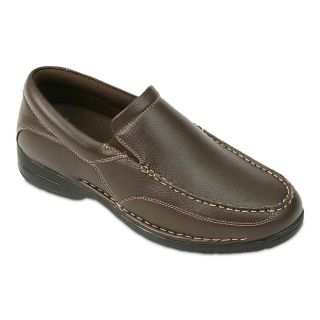 Deer Stags Bound Mens Slip On Shoes, Brown
