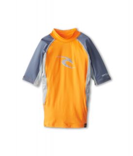 Rip Curl Kids Wave S/S Rashguard Boys Swimwear (Orange)