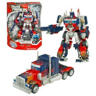 Hasbro Year 2007 Transformers Movie PREMIUM Series Leader Class 9 Inch Tall Robot Action Figure   Autobot Leader OPTIMUS PRIME with Super Detailed Deco, Lights and Sounds Plus Automorph Energy Sword Extends From Arm (Vehicle Mode Rig Truck) Toys & Ga