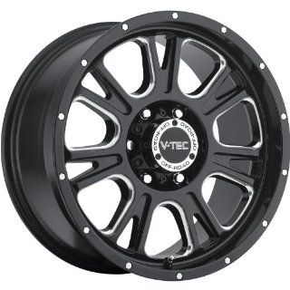 V Tec Fury 18 Black Wheel / Rim 8x6.5 with a 18mm Offset and a 125.2 Hub Bore. Partnumber 399 8881MS18 Automotive