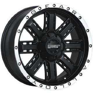 Gear Alloy Nitro 20 Black Wheel / Rim 5x4.5 & 5x5 with a 18mm Offset and a 78 Hub Bore. Partnumber 723MB 2090518 Automotive