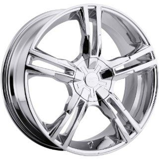 Platinum Saber 18 Chrome Wheel / Rim 5x120 & 5x4.5 with a 42mm Offset and a 74 Hub Bore. Partnumber 292 8807C Automotive