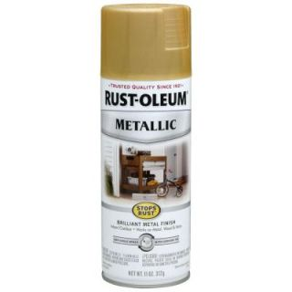 Rust Oleum Stops Rust 11 oz. Protective Enamel Metallic Gold Rush Spray Paint 7270830