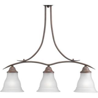 Progress Lighting Trinity Collection Cobblestone 3 light Chandelier  DISCONTINUED P4325 33