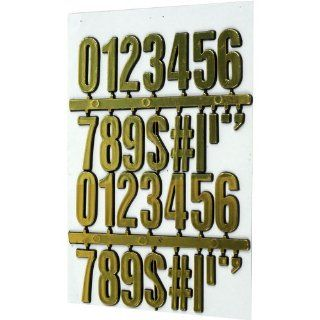 Stalwart 75 28814 Hawk 3D Gold Numbers and Symbols, 30 pc   Ceiling Pendant Fixtures
