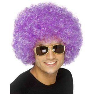New Mens Womens Child Costume Purple Afro Disco Wigs Clothing