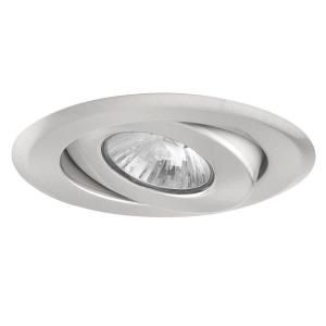Globe Electric 4 in. Recessed Brushed Nickel Light Fixture DISCONTINUED 90012