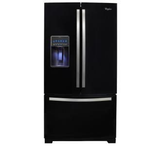 Whirlpool Gold 28.6 cu. ft. French Door Refrigerator in Black Ice WRF989SDAE